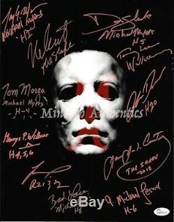 Halloween Autographed Cast Photo Signee 11x14! Jsa Coa! Michael Myers! Rare
