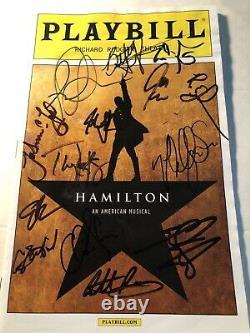 Hamilton Musical Original Broadway Cast Signée De La Première Semaine De Premiere