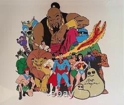 Hanna Barbera 1973 Superhéros Publicité Cel-signé Par Bob Singer