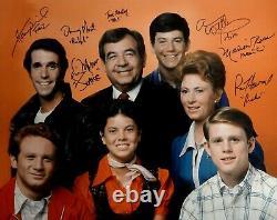 Happy Days Cast Signé 16x20 Photo Ron Howard Tom Bosley Erin Moran Winkler Jsa