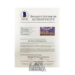 Harry Potter Cast Autographié 25 1/8 X 35 3/8 Affiche (10 Signatures) Bas Loa