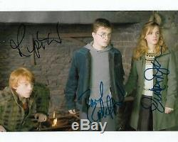 Harry Potter Cast De 3 Autographié 8 X 10 Photo Dédicacée Holo Coa