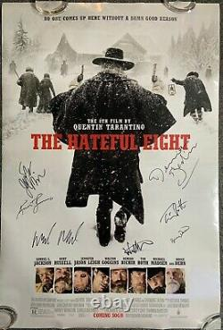 Hateful Eight Jsa Cast Autograph Signé Original Movie Poster Ds Double Sided