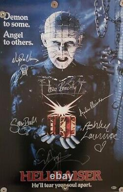 Hellraiser Cast Signed Poster 24x36 6 Signatures Beckett (bas) Coa Clive Barker