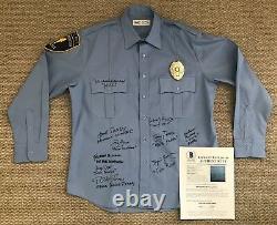 Hill Street Blues Cast Signed Police Uniform Shirt Tv Warren Spano Perez Beckett