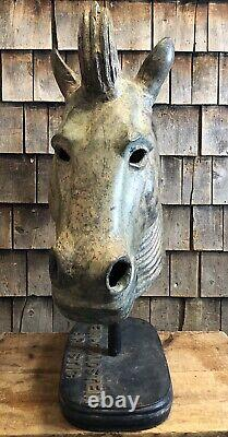 Historique Antique Stein&goldstein Artistic Carousel Horse Brass Mold Trade Sign