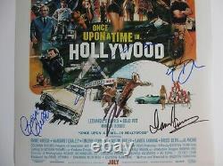 IL Était Une Fois Dans Le Casting Hollywood Signé 12x18 Photo Leonardo Dicaprio Dc/coa