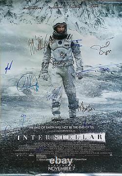 Interstellar Ds Affiche Du Film Cast Signé Premierautographs. Réel