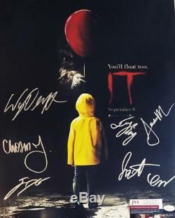 It 7x Cast A Signé 16x20 Poster Finn Wolfhard Wyatt Oleff Jsa Coa 433 479