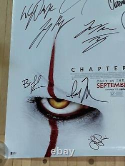 It Chapitre 2 Cast Signé 27x40 Original Ds Affiche Originale Bas Beckett Loa