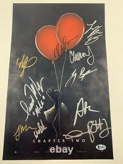 It Chapter Two 2 Cast Signed X10 11x17 Poster Autographié Beckett Loa Muschietti