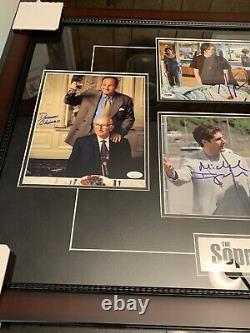 James Gandolfini Autographié Photo Encadrée Sopranos Cast Sirico ++++ Jsa