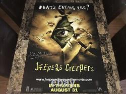 Jeepers Creepers Cast Rare Signé 1 Feuille Originale Affiche Du Film Cult Horror Coa