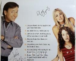 John Ritter Kaley Cuoco +3 Cast Signé 8 Règles Simples Rare 27x40 Affiche Complète Bas