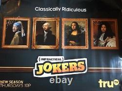 Jokers Impraticables Full Group Cast Signé 5 Foot Subway Affiche Beckett Loa Coa