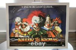 Killer Klowns From Outer Space Signé 18x24 Print Chiodo Bros +cast Jsa Full Loa