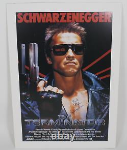 L'affiche Signée Terminator Cast Autographiée! Rayons! Authentifié Par Amco