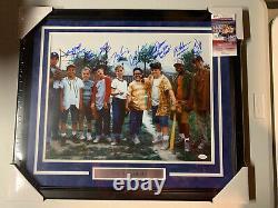 L'autographe Sandlot Signé 8 Membres De La Distribution Inscrits 16x20 Photo Encadrée Jsa