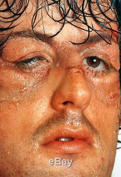 L'balboa Sylvester Stallone Signé Autographié Bronze Rocky 1975 Visage Mold Coa
