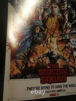 La Squad Suicide 12x Casting Signé Affiche 12x18