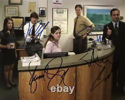 Le Bureau Cast De 4 Autographes Originaux Signé À La Main 8x10 Avec Coa