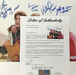 Le Casting Goonies Signé 11x14 Photo Psa/dna Coa Loa Cohen Astin Feldman Ke Quan