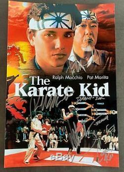 Le Casting Karate Kid Dédicacé 8x12 Photo Signée Ralph Macchio Pat Morita Zabka