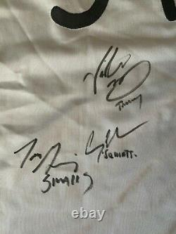 Le Sandlot Cast Signé Autographied Jersey Coa Beckett #p17630