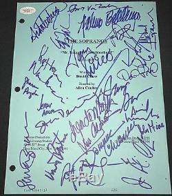 Les Acteurs Sopranos Withtony Tv Script Coassurance De Cast Signe 25 Autographed Jsa
