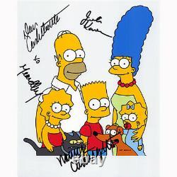 Les Simpson Cast Par 4 (85184) Autographié En Personne 8x10 Avec L'aco