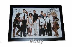 Livre De Mormon Cast Signé 20x30 Affiche Trey Parker Andrew Rannells Josh Gad Coa
