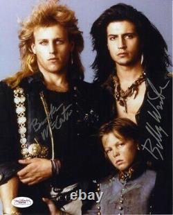 Lost Boys Cast Mccarter Corbitt Wirth Autographié Signé 8x10 Photo Jsa Coa