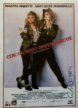 Madonna & R. Arquette 3x Cast Signé À La Main Autographié Tm Authentic 2 Items / Coa