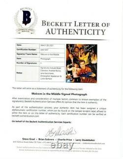 Malcolm Dans Le Casting Moyen Signé Autographié 8x10 Photo Muniz Cranston Bas Loa
