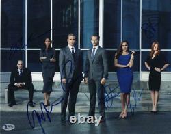 Markle De Meghan, Macht De Gabriel, +4 Suits D'autographes Signés Au Moins Complet 11x14 Photo
