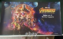 Marvel Infinity Wars Sdcc 2018 Lauréat De Loterie Affiche Signée Très Rare
