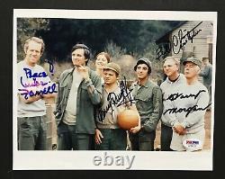 Mash Cast Signé 8x10 Photo 4 Auto Burghoff Christopher Morgan Farrell Psa Coa
