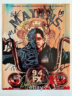 Mayans MC Autographié 11x14 Saison 1 Affiche Photo Signée Par 12 Pièces Moulées Fx