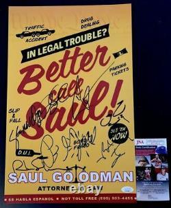 Meilleur Appel Saul Cast Signé X7 11x17 Affiche Autographiée Vince Gilligan Jsa Coa