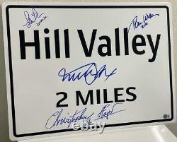 Michael J Fox Retour Vers Le Futur Projet Signé Hill Valley Sign Prop Replica Bas
