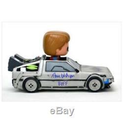 Michael J. Fox-retour Vers Le Futur Funko Pop Doll Car-cast Signé 5x-nib Rare / Oop