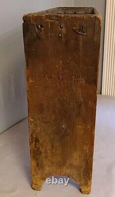 Moule De Bougie, Rack, 18 Moules D'étain, Fabricant De Cadre De Bois Signé, Wick Rods, Américain