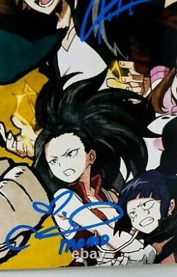 My Hero Cast Academia X 10 Signé 12x18 Poster Deku Bakugo Tous Pourrait Endeavor