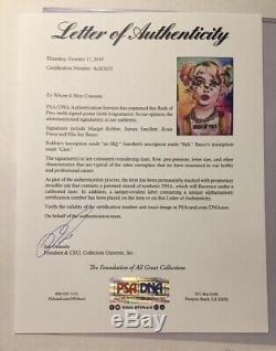 Nycc 2019 Birds Of Prey Cast Film Affiche Signée Margot Robbie Harley Quinn Coa