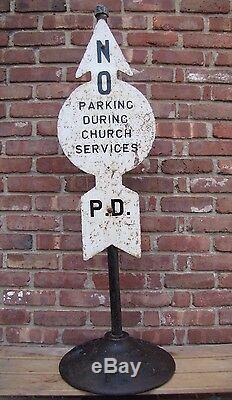 Old Hoboken Pd Rue Inscription Stationnement Pendant Eglise Service De Base De Fonte Nj Ny