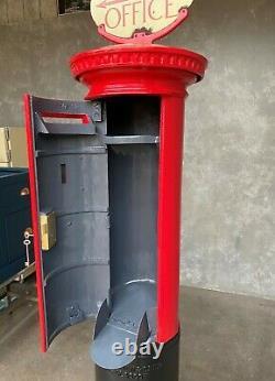Original Reclaimed Red Cast Iron George 5th Pillar Box Signe Ukaa Post Box