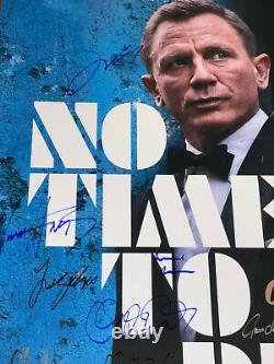 Pas Le Temps De Mourir Affiche De Cinéma Cast Signé Première Daniel Craig James Bond 007 Coa