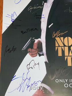 Pas Le Temps De Mourir Affiche De Cinéma Cast Signé Première James Bond Daniel Craig 007 Wow