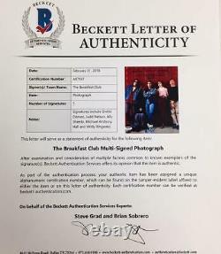 Petit Déjeuner Club (tous 5) Casting Signé 8x10 Photo Avec Beckett Bas Coa Ringwald Hall