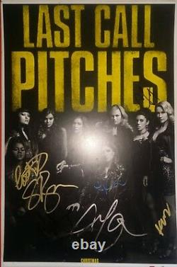 Pitch Parfect 3 Signed Cast Movie Poster 12x18 Anna Kendrick 7 Auto Photo Proof